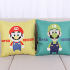 Super Mario Bros Printed Cotton Linen Cushion Cover Throw Pillow Case Home Decor