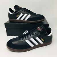 *NEW* Adidas Samba Classic (Men Size 9) Black Gum Soccer Shoes Football Sneakers