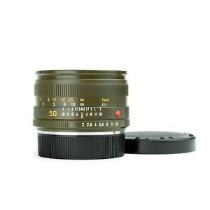 Leica 50mm f2 SUMMICRON-R V2 E55 Leitz Lens *Rare Safari Version*