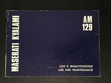 Libretto Uso Manutenzione MASERATI KYALAMI Use Manteinance Originale rare car
