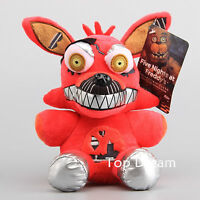 """FNAF Five Nights at Freddys Series 2 Nightmare Red Foxy Exclusive Plush Doll 8"""""""