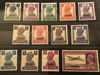 Chamba Indian conv.state GVI 1942/47 set of 13 MH