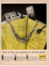 1961 ORIGINAL VINTAGE BELL TELEPHONE YELLOW PAGES DIRECTORY MAGAZINE AD
