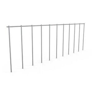 Ground Fence Panel Defence Large Animal Dig Barrier Solid Steel Large 4 Pack