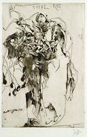 """""""Rest"""" 1972. Radierung Horst JANSSEN (1929-1995 D), handsigniert [Kruglewski 35]"""