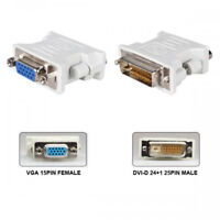 H63 DVI-D 24+1 pin Stecker auf VGA 15pol Buchse Adapter für PC Laptop Monitor