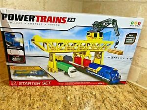 Power Trains 2.0 STARTER SET Port Cargo Loader Crane & Gantry Motorized Train