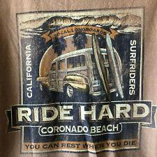 Ride Hard California Surfriders Coronado CA Long Sleeve Tee Shirt Men's XL