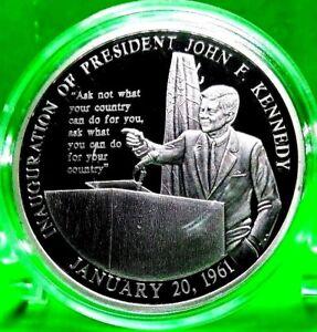 JOHN F. KENNEDY INAUGURAL SPEECH COMMEMORATIVE COIN VALUE $59.95