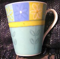 Lovely porcelain mug interiors design with floral pattern approx 4ins tall