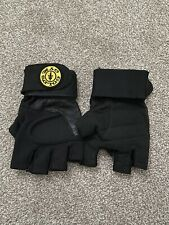 Gold's Gym Fingerless Black Weightlifting Gloves Size L
