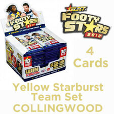2018 AFL SELECT FOOTY STARS YELLOW STARBURST SET 4 CARDS - COLLINGWOOD