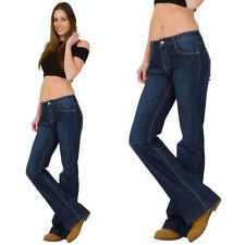 Indigo, Dark wash Mid Rise Regular Size L34 Jeans for Women
