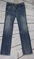 Diesel 25 Liv Slim Straight Embroidered Medium Wash Denim Jeans 25 X 31