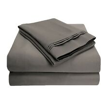 Luxor Style 100% Egyptian Cotton Sheet 800TC ~ Full FITTED ONLY ~ Gray **NEW**