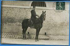 CPA PHOTO: Soldat du 29° Régiment de Dragons et son cheval / 1909