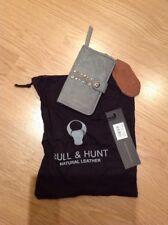 handyhülle Portemonnaie Geldbörse Bull & Hunt Grau Leder Handy Samsung iPhone