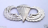 US ARMY PARATROOPER AIRBORNE WINGS SILVER Military Veteran Hat Pin 16317 HO
