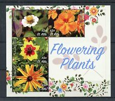 St Kitts 2016 MNH Flowering Plants 4v M/S Zinnia Globeflower Flowers Stamps