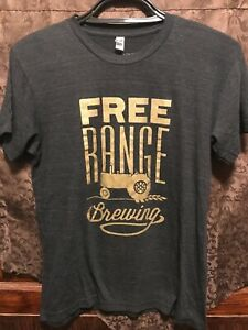 FREE RANGE BREWING Charlotte NC ~ Medium ~ 2 Sided Beer T Shirt Tractor