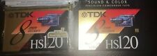NEW Lot Of 2 TDK 8mm Video Cassette Tapes Sealed HS 120