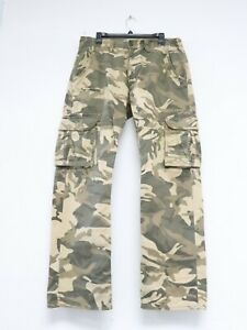 Jordan Craig Adult 34x32 Beige Camo Cargo Pocket Flat Front Pants Men