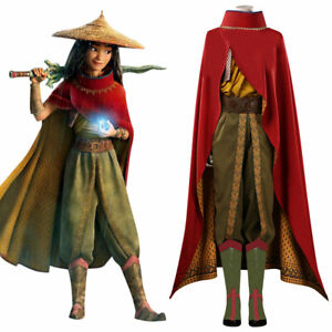 Raya and The Last Dragon Raya Cosplay Costume Outfits Suit Full Set Halloween