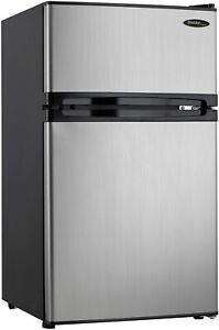 Danby Designer 3.1 cu. ft. 2-Door Compact Mini Refrigerator Fridge Freezer
