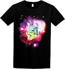 Magic Space Unicorn Cat Funny Geeky Weird Galaxy Space Nebula Graphic T-shirt