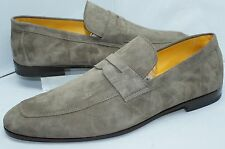 New Canali Mens Shoes Ibiza Loafers Drivers Size 43.5 10 Suede Slip On