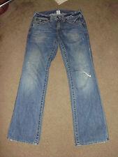 TRUE RELIGION Men's BILLY 31 x 33 Medium Drifter w/ rips wash Rock Jeans TR
