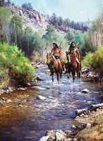 When Horses Leave No Tracks by Martin Grelle Native American Indians Western ❤❤
