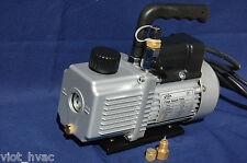 Rotary Vane Vacuum Pump 3CFM+Check Valve HVAC Tool 29Hg & Goat Milker Pulsator