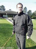 Rock Fall Golf Jacket Waterproof Mens Outdoor Rain Coat Parka Navy Blue or Black
