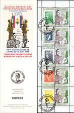 """DG10-9C1 Carnet Porte-timbres """"70 ans Appel de Gaulle"""" (Scorbé-Clairvaux) 2010"""