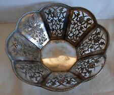 AN OLD 800 SILVER OPEN WORK POLISH BOWL - 139 grams-- BY SS