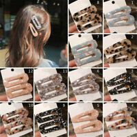 New Fashion Women Acid Acetic Acrylic Pin Barrette Clip Hairpin Hair Accessories