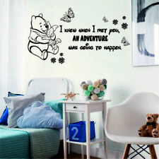 WINNIE the POOH Wall Stickers Quote I know when I met you Disney Font Decal