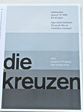 dieKreuzen Rock Band  Mini-Poster Reprint 13 1/2 x10 Optical Artwork Colors