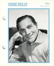 """Gene Kelly 1940's Actor Movie Star Card Photo Front Biography on Back 6 x 7"""""""