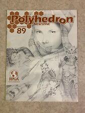 POLYHEDRON Issue 89 NOV 1993 Volume 15 Number 11 RPGA Newszine Magazine #T916