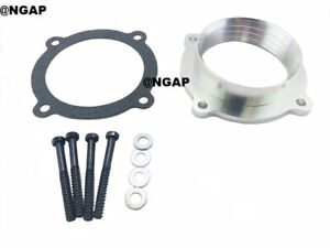 Silver Throttle Body Spacer For 11-18 Chrysler 300 3.6L 11-14 Dodge Avenger V6