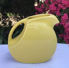 Fiestaware Sunflower Juice Pitcher Fiesta Small Yellow 28 oz Disc Pitcher