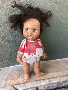 RARE! GALOOB 1990 BABY FACE SO SURPRISED SUZIE BLACK AFRICAN AMERICAN DOLL