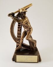 Male Swinging Baseball Resin Trophy! Free Engraving! Ships In 1 Business Day!