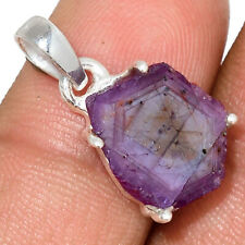 Rare Natural Ruby Statactites 925 Sterling Silver Pendant Jewelry AP164175