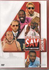 DVD ZONE 2--EMISSION TV CANAL +--OMAR & FRED / SAV DES EMISSIONS SAISON 4--OMAR