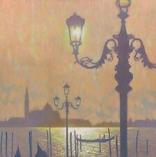 """BELLISSIMO ORIGINALE Mark Harrison """"Bacino di San Marco"""" Venezia Italia pittura ad olio"""