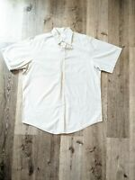 Brooks Brothers Mens Plaid Short Sleeve Button Down Shirt Large Cotton