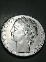 REPUBBLICA ITALIANA -100 LIRE 1980 - MINERVA - DIFETTO - DOPPIA BATTITURA - n152